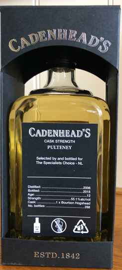 """Old Pulteney 12y """"The Netherlands"""" CA"""