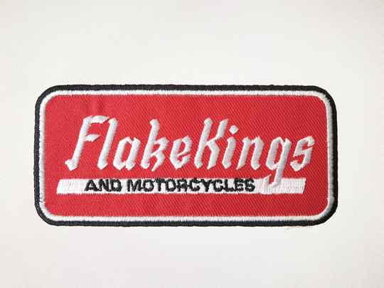Woven FlakeKings and Motorcycles patch.