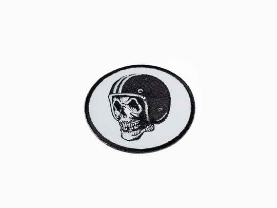 FlakeKings woven skull patch.
