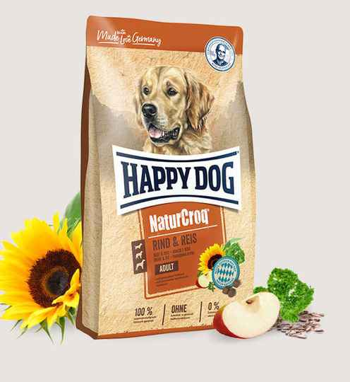 Happy Dog Premium - NaturCroq Rind&Reis