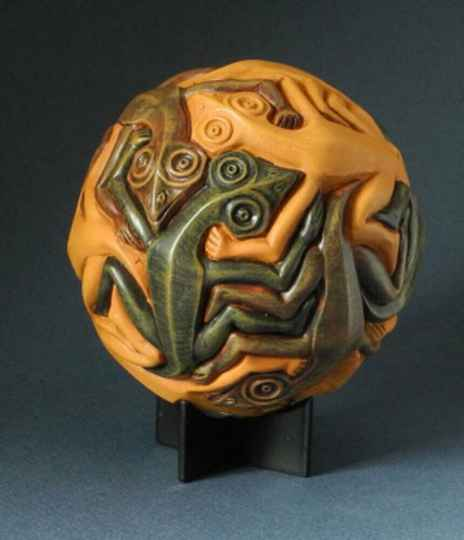 Maurits Escher - SPHERE WITH REPTILES