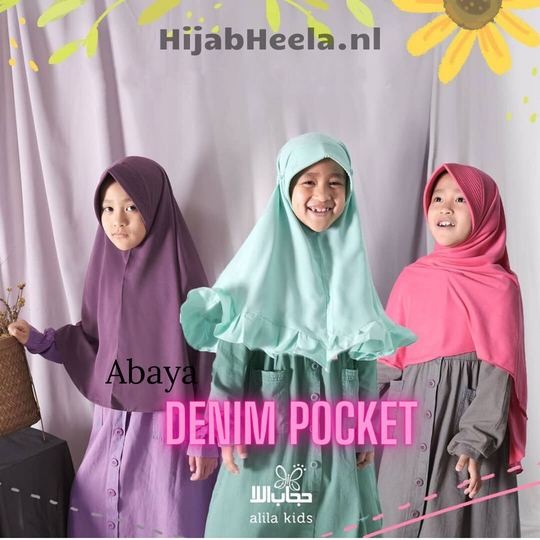 Abaya Meisje  | Denim Pocket