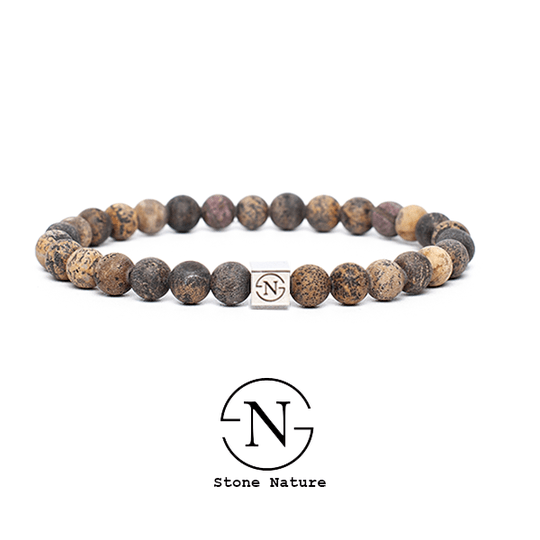 EARTH MIX NATUURSTEEN DAMES ARMBAND BRUIN