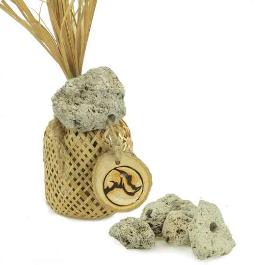 Back Zoo Nature Woven Bag With Lava Stones