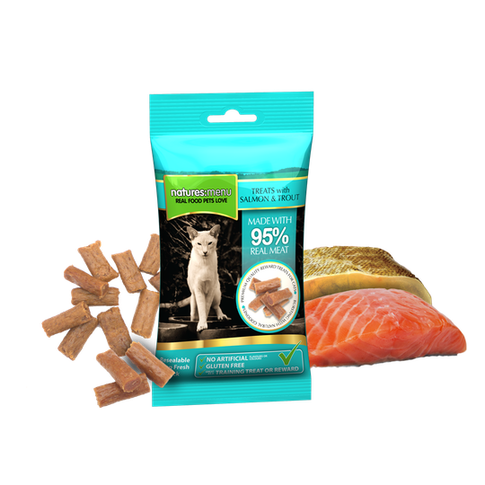 Natures Menu Real Meaty Zalm en Forel 60 gram