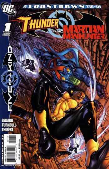 1. Outsiders: Five of a kind - Thunder and Martian Manhunter