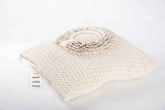 Cushion Cover Macrame / Shell 40X40. FREE DELIVERY !
