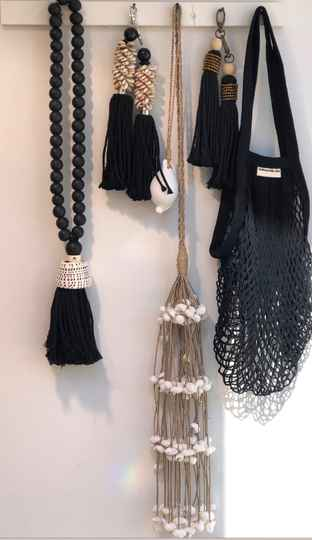 2 X Net bag : Natural color and black available : 2 pieces/set.   Free delivery !  Gratis verzending !