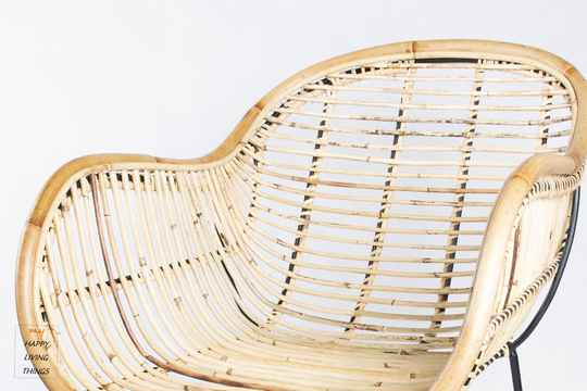 Modern rotan chair for single use with natural look