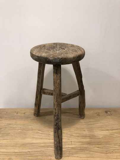 Stool, wood, authentic