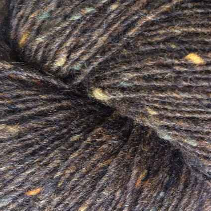 Isager tweed CHOCLATE