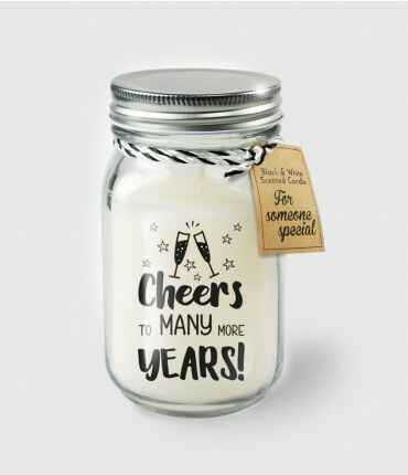 Black & White scented candles - Cheers