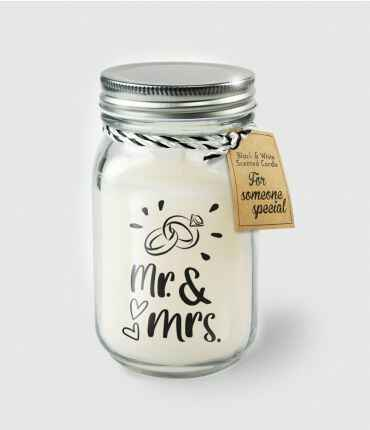 Black & White scented candles - Mr. & Mrs.