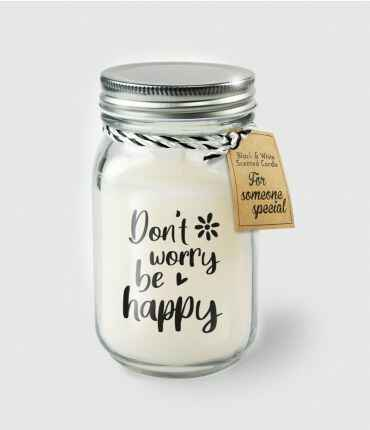 Black & White scented candles - Don't worry be happy