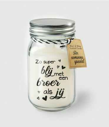 Black & White scented candles - Broer