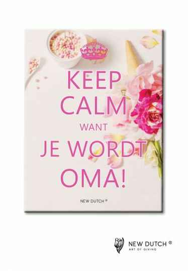 Tegel Keep Calm Want je wordt Oma!
