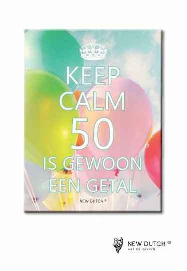 Tegel Keep Calm 50 is...