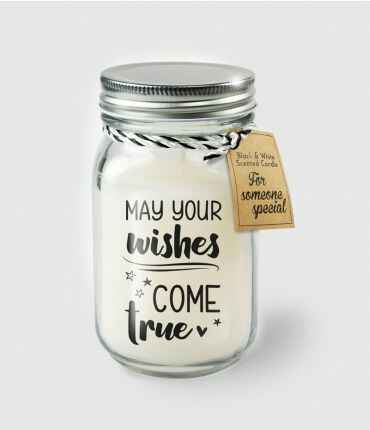Black & White scented candles - May your wishes