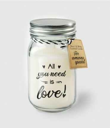 Black & White scented candles - All you need is love