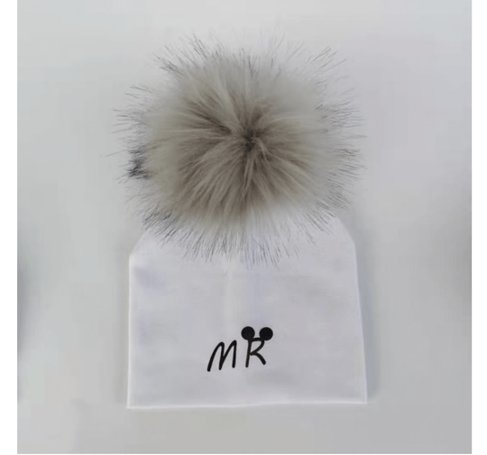 PomPom Muts MR Wit Baby & Peuter