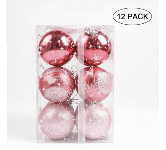 Gift Set Deluxe Kerstballen Roze Rose Kerstboom Decoratie
