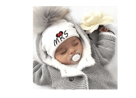 PomPom Muts MRS Wit Baby & Peuter