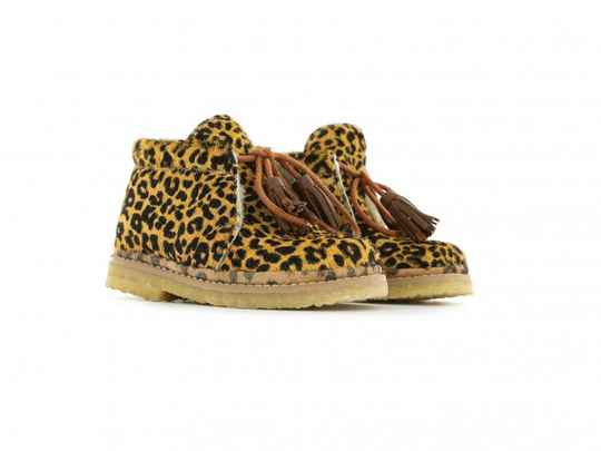 Shoesme - Baby crêpe brown panter