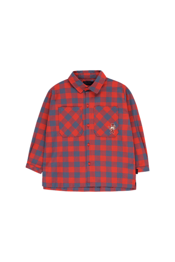 """Tinycottons - Small check """"cat"""" shirt"""
