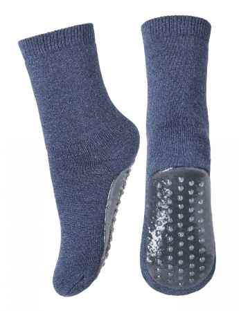 Mp Denmark - Wool slippers  - Dark Denim mel (7951-798)