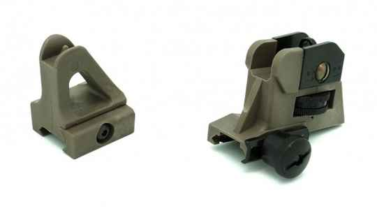Milsig Polymer AR Sights Set Desert