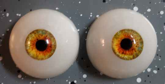 Dollicious Acrillic mannequin Eyes - Golden Yellow