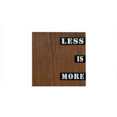 Wandpaneel hout 30 x 30 cm Less is more