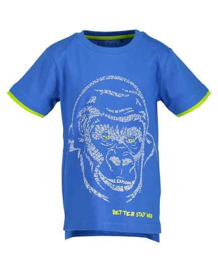 Blue Seven Jongens shirt monkey blue