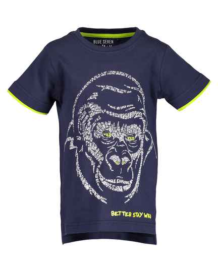 Blue Seven Jongens shirt Monkey dark Blue