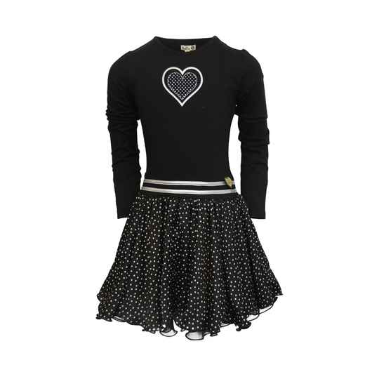 W20 Dress Dance with me Black dot small