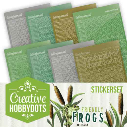 Creative Hobbydots Stickerset 10 - Amy Design - Friendly Frogs