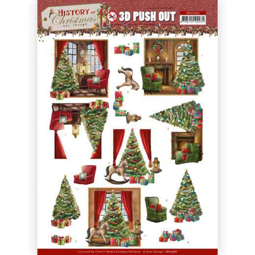 3D Push Out - Amy Design - History of Christmas - Christmas Home