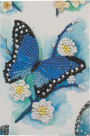CCK-10x15B1: Blue Butterfly, 10x15cm Crystal Art Card