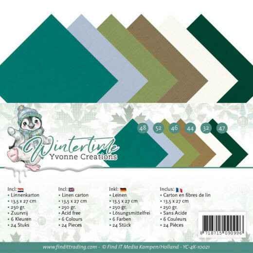 Linen Cardstock Pack - 4K - Yvonne Creations - Winter Time
