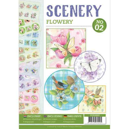 Push Out book Scenery 2 - Flowery