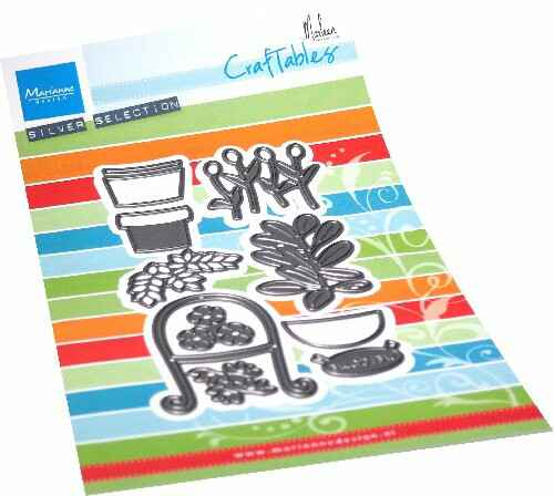 Craftables stencil Potted Plants by Marleen