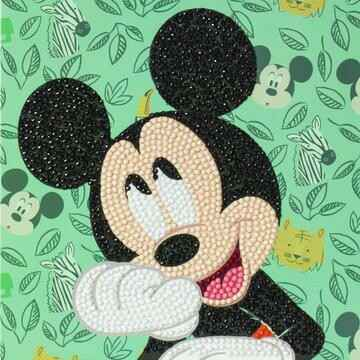 CCK-DNY805: Happy Mickey, 18x18cm Crystal Art Kaart
