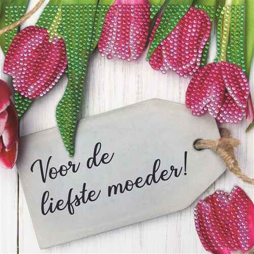 Crystal Art Card® Mothers Day (partial, 18x18 cm) CCK-IT7