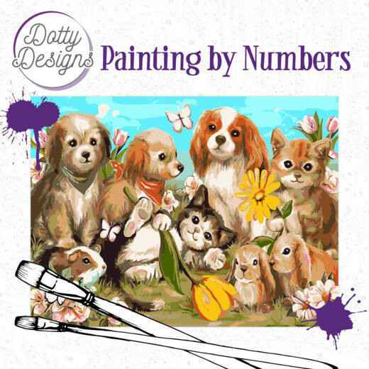 DDP1019 Dotty Designs Painting by Numbers - Pets