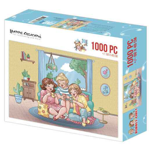 Puzzel 1000 pc - Yvonne Creations - Bubbly Girls Tea Time 002 YCPZ1002