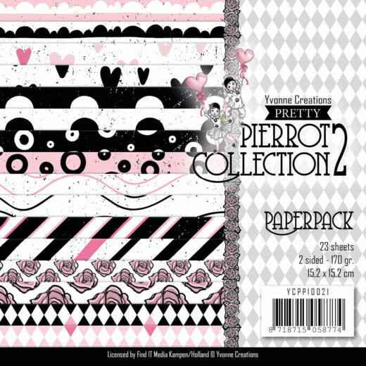 Paperpack - Yvonne Creations- Pretty Pierrot 2  Yvonne Creations