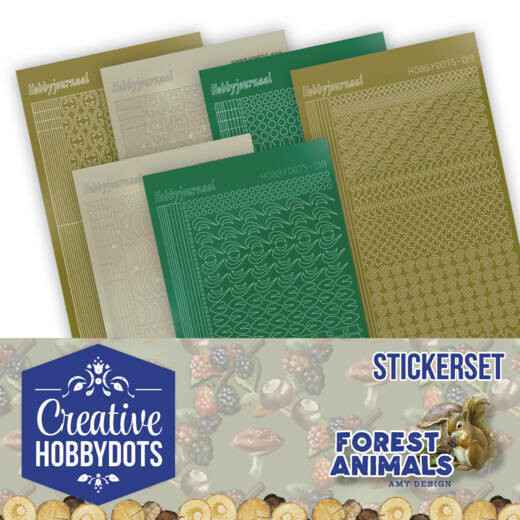 Creative Hobbydots Stickerset 12 - Amy Design - Forest Animals