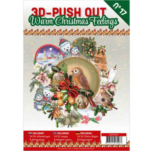 3D Pushout Book 17 Warm Christmas Feelings  3DPO10017