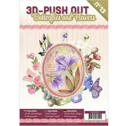 Pushout Book 13 Butterflies and Flowers