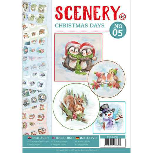 Push Out boek Scenery 5 - Christmas Days